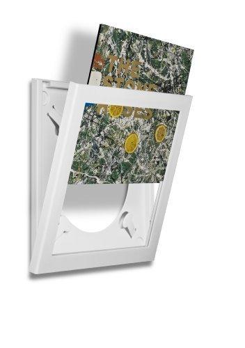Art Vinyl Play & Display Record Frame (White) by Klein & More