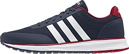adidas - V Racer Tm Ii, Scarpe sportive Uomo Multicolore (Azul Marino / Blanco / Rojo (Maruni / Ftwbla / Rojpot))