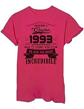 iMage T-Shirt Compleanno Nato A Giugno del 1993-25 Anni per Essere Incredibile - Eventi