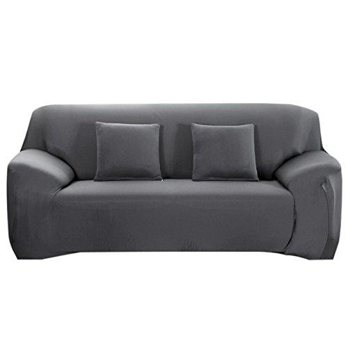 Nibesser Couchhusse Sofabezug Couchbezug Verfügbar in Verschiedenen Größen (2 Sitzer/145-185cm, Grau)