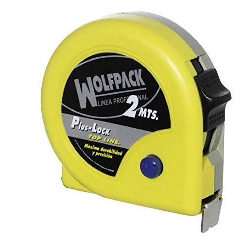 wolfpack-2300540-flexometro-magnetico-con-freno-2-metros-13-mm-amarillo