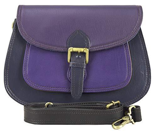 Sunsa Kleine Umhängetasche Damen Handtasche Ledertasche Klein Schultertasche Mini Trachtentasche Damentasche Crossbody Bag Leder Tasche Women Bag Taschen schöne Geschenke für Frauen/Mädchen (lila) -