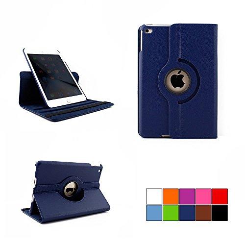 COOVY® Cover für Apple iPad mini 4 Retina ROTATION 360° SMART HÜLLE TASCHE ETUI CASE SCHUTZ STÄNDER | Farbe dunkelblau
