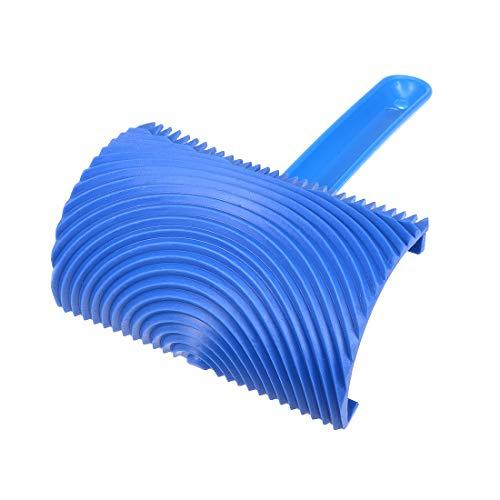 Sourcing mappa del legno strumento con manico 10,2cm empaistic graining modello timbro di gomma per pittura murale decorazione diy blu
