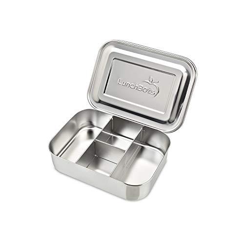 LunchBots Protein Packer Snack Behälter (443 ml) - Edelstahl Nahrungsmittelbehälter mit Abteilungen zur Portionskontrolle - Umweltfreundlich, Spülmaschinenfest und langlebig -