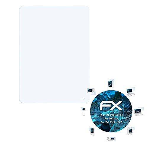atFolix Schutzfolie kompatibel mit Trekstor SurfTab Ventos 9.7 Folie, ultraklare FX Bildschirmschutzfolie (2X)