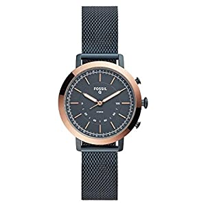 Fossil Damen Analog Quarz Smart Watch Armbanduhr mit Edelstahl Armband FTW5031