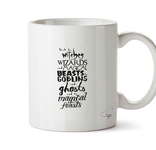 hippowarehouse Back to Zauberer und Hexen und magische Beasts zu Goblins und Geistern und zu Magical Feste 283,5Tasse, keramik, weiß, One Size (10oz) (Goblin Outfit)