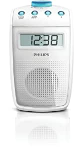 Philips ae2330 radio de salle de bain tanche avec horloge int gr e et minute - Douche avec radio integree ...