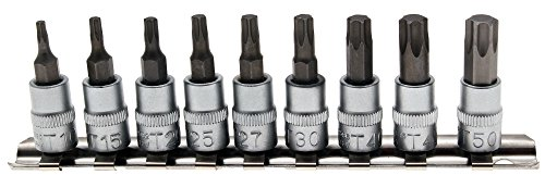BGS Bit-Einsatz-Set, 6,3 mm, 1/4 Zoll, T-Profil, T10 - T50, 2164 (Profil-bit-set)