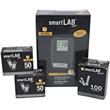 smartLAB mini (mg/dL) Glucometro Bundel para la auto-pagadores en forma de tarjeta de crédito ...