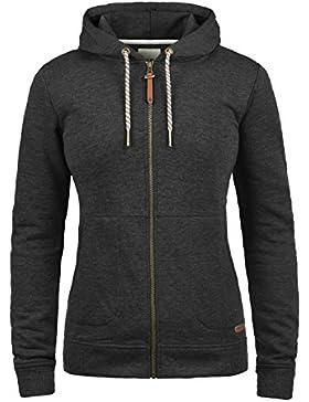 DESIRES Vanda Damen Sweatjacke Kapuzen-Jacke Zip-Hoodie aus hochwertiger Baumwollmischung Meliert