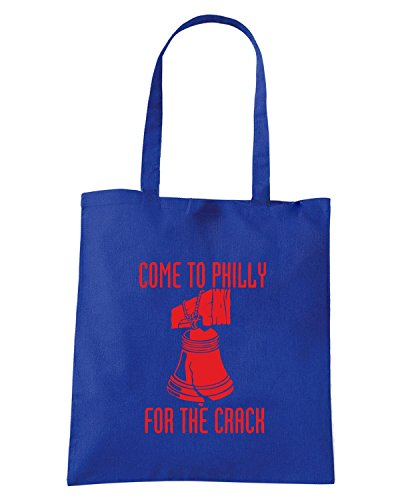 T-Shirtshock - Borsa Shopping FUN0174 07 06 2013 Come to Philly T SHIRT det Blu Royal