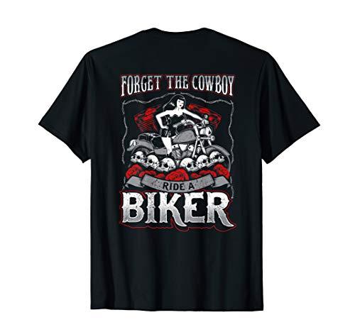 Vergessen Sie die Cowboy-Fahrt Biker Bitch T-Shirt Frauen-Mo - Bitch Biker-shirt