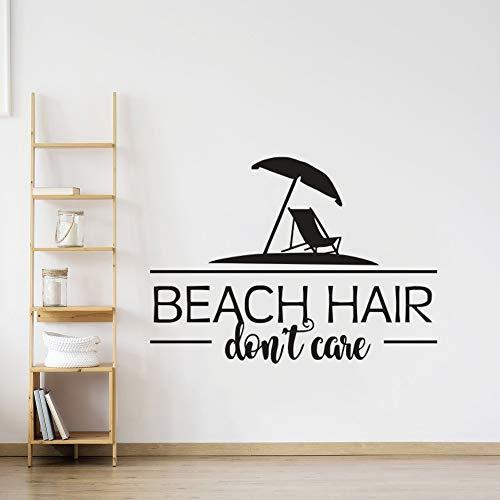woyaofal Beach Quote for Vacation Wall Sticker Sea Style Home Decor Ocean Theme Sign para la Etiqueta de la Pared Beach Quote Vinyl Murals A42x30cm