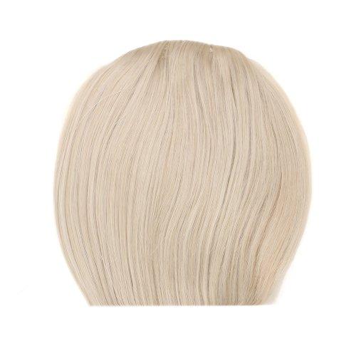 miss20Haarverlängerung/Haarteil Zopf Clip in auf Haarteil Pony blond 613# gerade