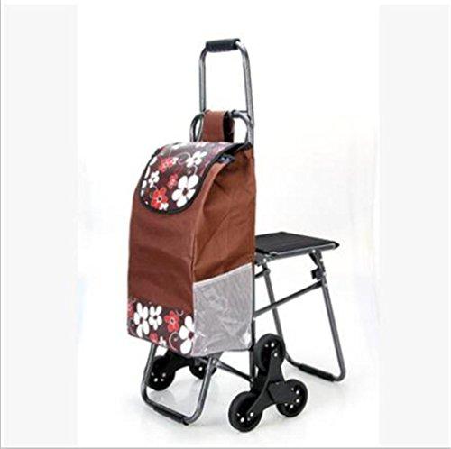 Einkaufswagen-kletternder faltender Gepäckwagen-tragbarer LKW mit Tabellen und Stühlen, A
