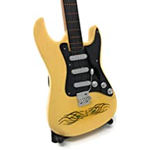 Guitarra en miniatura decorativa Guitarra Guitar Fender 24 cm Crema Tiger Eye # 142