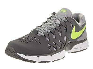 ... Nike Men's Lunar Fingertrap Tr Dark Grey/Volt Stealth Training Shoe 10.  5 Men US