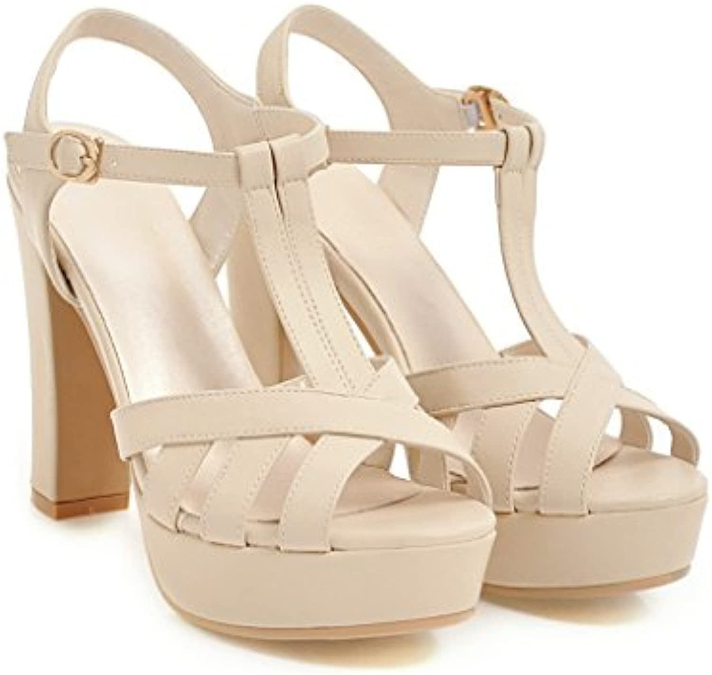 ZHIRONG Sandalias cómodas Fiesta de punta abierta con la parte inferior plana Verano Zapatos de mujer Sandalias con hebilla de un botón 6 cm ( Color : D , Tamaño : EU36/UK3.5/CN35 ) EU36/UK3.5/CN35 D