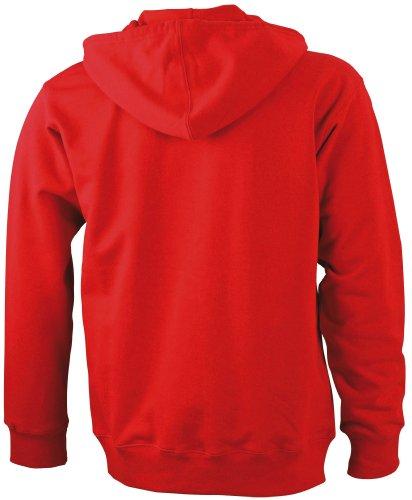 J&N - Herren Kapuzenjacke in Sweater-Qualität (JN042) Rot