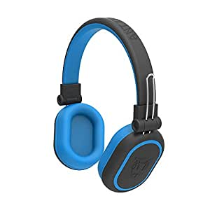 Ant Audio Treble 1200 HD Bluetooth Over Ear Headset with MIC, Upto 15 Hours Playtime for Travel and Work - Black Blue