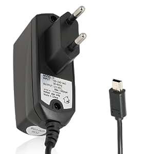 Wicked Chili Schnellader Netzteil / Reiselader für SanDisk Sansa MP3-Player Clip / Clip+ (miniUSB, 1000mAh, 110-240V) schwarz