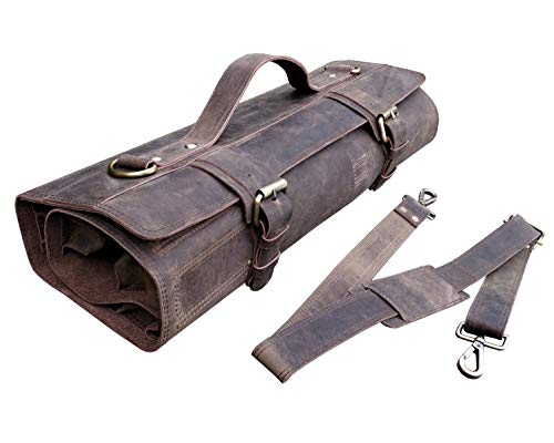 One Leaf - Leather Chef Roll Leather Bag - Bedouin X (Brass colored buckle)