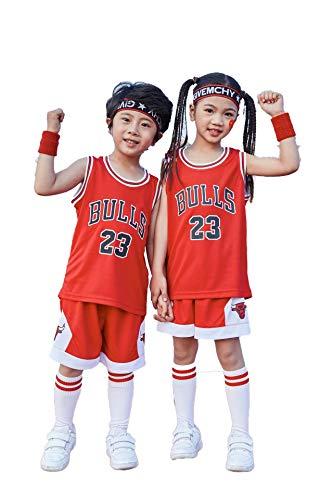 Sport Kinder- Und Jugendmannschaft NBA Trikotset - Bull Jordan # 23 / Lakers James # 23 / Warriors Curry # Basketball Basketball Trikot Besticktes Trikot Training Jungen Und Mädchen - Jordan Bestickt Shorts