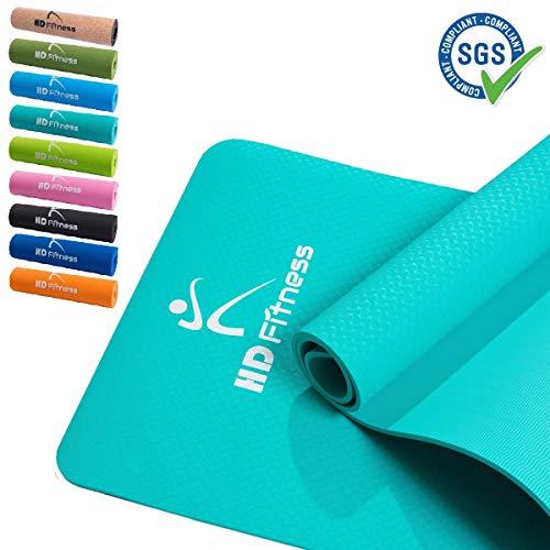 HD Fitness Gym Yogamatte, rutschfest, TPE, Gymnastikmatte, Fitnessmatte, Sportmatte, Bodenmatte mit Tasche & Trageband,/ 183x61x0,8cm,SGS geprüft