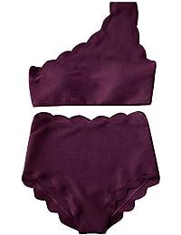 SHENGYI Traje De Baño Traje De Baño Pétalo Traje De Baño Mujer Split Bikini De Cintura Alta Traje De Baño para Mujer Bikini Europeo Y Americano