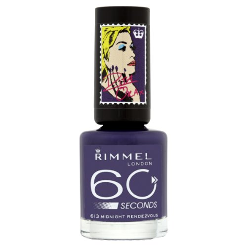 Rimmel London 60 Seconds Nail Polish By Rita Ora, Midnight Rendezvous
