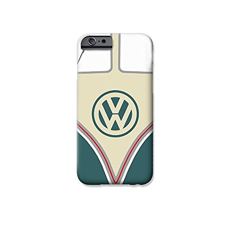 """VW Camper Telefon Hülle/Case Gel TPU Abdeckung für iPhone 6 / 6s (4.7"""") mit Display Schutz / EJC Avenue / Blau Grün"""