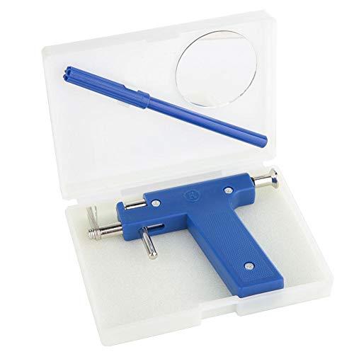 Greeflu Ohr Piercing Pistole, Keine Schmerzen Sicherheitseinheit Set Werkzeug mit Marker Pen Pierce Kit für Mädchen Frauen Männer (blau)