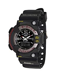 RTimes Digital & Analog Black Dial Sports Watch for Boys, Men
