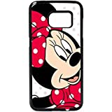 Minnie Mouse Case / Color Negro Plastic / Device Samsung Galaxy S7