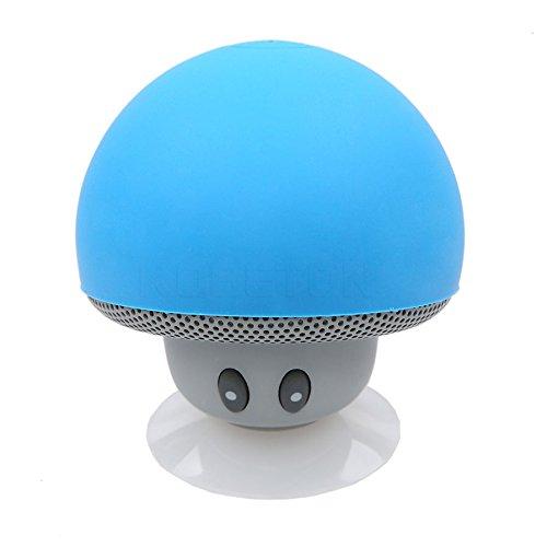 hen drahtlose Bluetooth-Pilz-Lautsprecher Wasserdichte Lautsprecher Bluetooth Stereo-Musik-Lautsprecher f¨¹r Telefon [blau] (6x4 Lautsprecher Kicker)