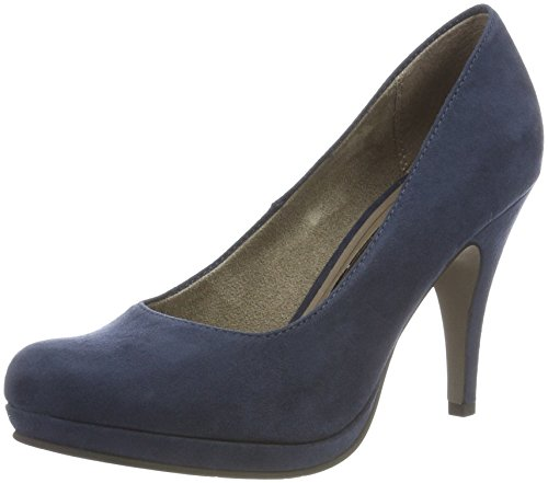 Tamaris Damen 22407 Pumps, Blau (Navy 805), 38 EU