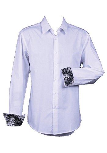 Sunrise Outlet–Hemd Abschlussballkleid–mit Knöpfen–Mann Weiß
