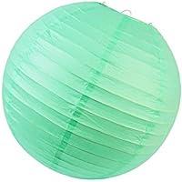 SUNBEAUTY Confezione da 10 pezzi 20cm di carta lanterna Colori assortiti decorazione per la festa nuziale all'aperto (menta)