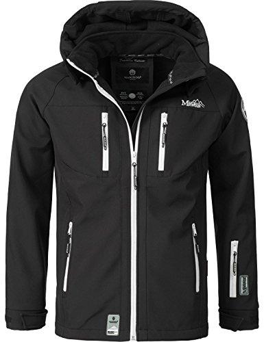 Marikoo Mountain Herren Softshell-Jacke Outdoorjacke NOAA (vegan hergestellt) Schwarz Gr. M