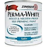 Zinsser ZINPWIS1L 1 Litre Perma-White Interior Satin Paint
