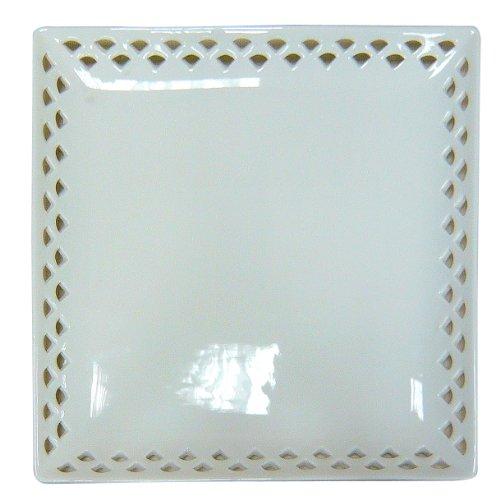 Better & Best–Kälteeinwirkung Schale quadratisch aus Porzellan 26x26x2 cm weiß