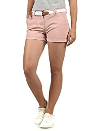 DESIRES Chanett Damen Chino Shorts Bermuda Kurze Hose mit Gürtel Stretch b1450a4555