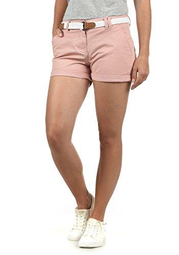 DESIRES Chanett Damen Chino Shorts Bermuda Kurze Hose mit Gürtel Stretch, Größe:38, Farbe:Pall Mauve (4420)