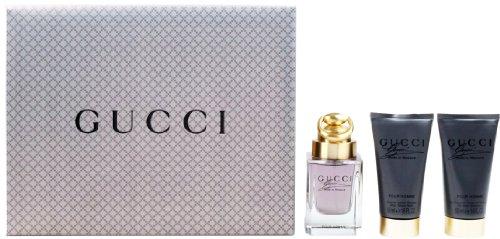 Gucci Made to Measure Geschenkset homme / men, Eau de Toilette Vaporisateur / Spray 50 ml, Aftershave Balm 50 ml, Duschgel 50 ml, 1er Pack (1 x 150 ml) -