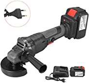 Walmeck Angle Grinder,18V Brushless Angle Grinder Tool 100mm Variable Speed 4.0Ah Lithium-Ion Electric Cordles