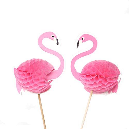 en Dekoration Tortenstecker Flamingo Pink Cupcakes Toppers Pink Flamingo Geburtstag Cupcake Topper Dekoration für Kuchen Eine schöne Kreativ Lustig Kuchenszene schaffen(50 stück) ()