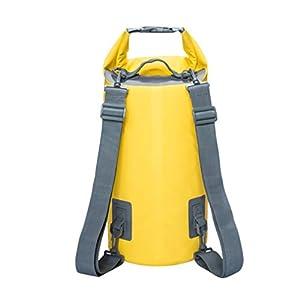BESPORTBLE 15L Schwimmtasche Wasserdicht Helle Farbe Leichte PVC Rafting Tasche Schwimmtasche Kompressionstasche für Segeln Kajak Camping (Gelb)