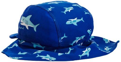 Playshoes Jungen Mütze 460128 Badekappe, Bademütze Hai mit UV-Schutz nach Standard 801 und Oeko-Tex Standard 100, Gr. 53, Blau (original) - 2